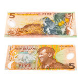 Notas na moeda de Nova Zelândia Foto de Stock Royalty Free