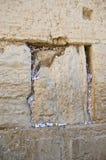 Notas na parede ocidental lamentando. Jerusalem Foto de Stock