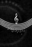 Notas negras y blancas de la música stock de ilustración