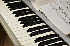 Notas no piano foto de stock royalty free