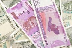 Notas novas da moeda indiana foto de stock royalty free