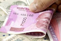 Notas novas da moeda indiana imagens de stock royalty free