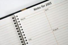 Notas para 2005 Fotografia de Stock