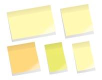 Notas pegajosas Imágenes de archivo libres de regalías