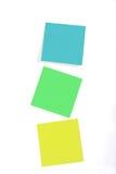 Notas pegajosas Foto de archivo libre de regalías