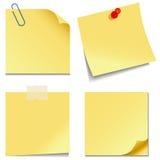 Notas pegajosas Imagenes de archivo