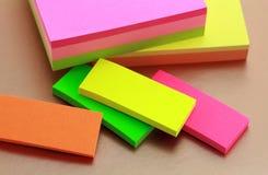 Notas pegajosas Imagen de archivo libre de regalías