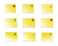 Notas pegajosas adornadas Fotografía de archivo