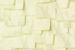 Notas pegajosas amarelas Fotografia de Stock