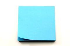 Notas pegajosas azuis do Aqua com ondulação de canto foto de stock royalty free