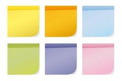 Notas pegajosas coloridas Imagen de archivo