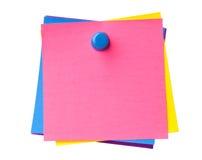 Notas pegajosas coloridas Fotografía de archivo libre de regalías
