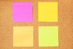 Notas pegajosas coloridas fotos de stock royalty free