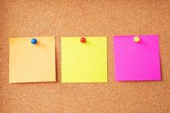 Notas pegajosas coloridas imagens de stock royalty free