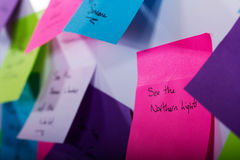 Notas pegajosas coloridas Foto de Stock