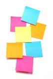 Notas pegajosas coloridas - formato vertical Fotografía de archivo