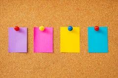 Notas pegajosas coloridas foto de stock royalty free