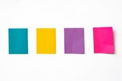 Notas pegajosas coloridas imagem de stock royalty free