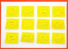 Notas pegajosas con actitudes Imagen de archivo libre de regalías