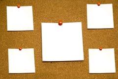 Notas pegajosas de Emty Foto de archivo