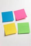 Notas pegajosas de la nota Fotografía de archivo libre de regalías