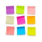 Notas pegajosas en blanco Imágenes de archivo libres de regalías