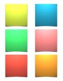 Notas pegajosas en blanco Fotos de archivo libres de regalías