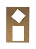 Notas pegajosas sobre tarjeta del fondo del corcho Imágenes de archivo libres de regalías