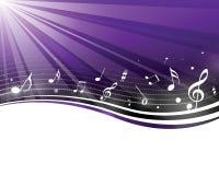 Notas retras de la música Fotografía de archivo libre de regalías