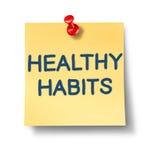 Notas saudáveis do escritório dos hábitos Foto de Stock