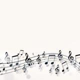 Notas simples da música ilustração royalty free