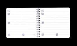 Notas simples de una receta Fotografía de archivo