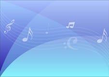 Notas sobre fondo abstracto azul Foto de archivo libre de regalías