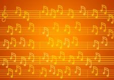 Notas sobre fondo anaranjado stock de ilustración