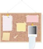 Notas sobre tarjeta del corcho Stock de ilustración