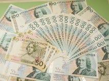 Notas suecos da moeda Fotografia de Stock Royalty Free