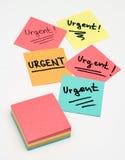Notas urgentes Foto de archivo libre de regalías