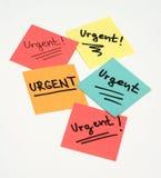 Notas urgentes Fotos de Stock