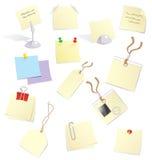Notas y etiquetas engomadas Foto de archivo