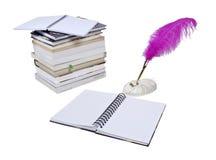 Notas y libros de la investigación Fotos de archivo libres de regalías