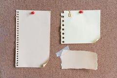 Notas y nota pegajosas Fotos de archivo libres de regalías