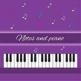 Notas y piano Claves del piano Fotografía de archivo libre de regalías