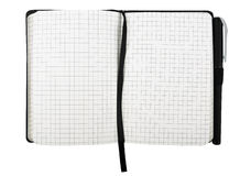 Notastootkussen met geïsoleerde pen Royalty-vrije Stock Fotografie