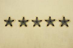 Notation de cinq étoiles image stock