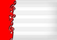 Notation de musique de feuille Images libres de droits