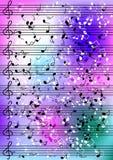 Notation de musique de feuille Images stock