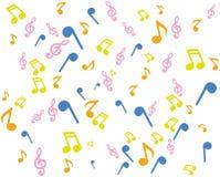Notation de musique de fond Photographie stock libre de droits