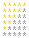 Notation de qualité d'étoile Photos stock