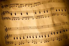 Notation musicale Photos stock