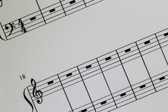 Notation Paper Royalty Free Stock Photo
